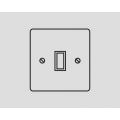 1-GANG 2-WAY ROCKER SWITCH WHITE INSERT