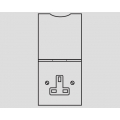 1-GANG 13A UNSWITCHED FLOOR SOCKET WITH SPRUNG FLAP