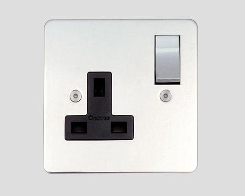 1 GANG 5A UNSWITCHED SOCKET OUTLET BLACK INSERT