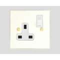 1-GANG 13A SWITCHED SOCKET OUTLET WHITE INSERT