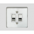 2-GANG 2-WAY ROCKER SWITCH WHITE INSERT